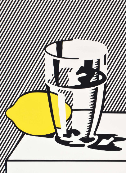 Untitled Still Life With Lemon And Glass For Meyer Schapiro 1974 by Roy Lichtenstein