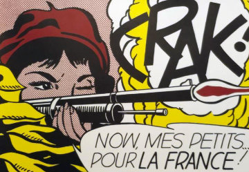 Crak! 1963 HS Limited Edition Print - Roy Lichtenstein