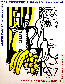 Still Life With Picasso Poster HS 1982 Limited Edition Print - Roy Lichtenstein