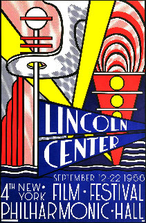 Lincoln Center Film Festival Exhibition Poster 1966 Limited Edition Print - Roy Lichtenstein