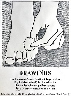 Foot Medication (Castelli Mailer) Hand Signed Exhibition Poster 1963 HS Limited Edition Print - Roy Lichtenstein