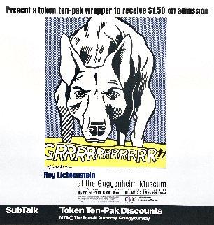 Grrrrrrrrrrr!! Hand Signed Exhibition Poster 1993 Limited Edition Print - Roy Lichtenstein