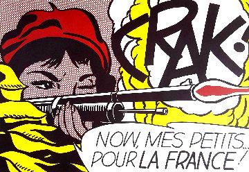 Crak! Leo Castelli Exhibition Poster HS 1963 Limited Edition Print - Roy Lichtenstein