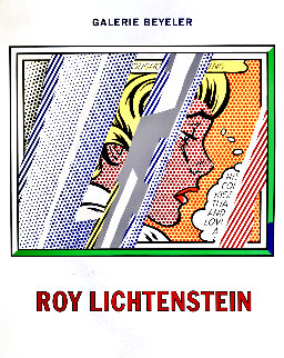 Reflections on Girl Exhibition Poster HS 1990 Limited Edition Print - Roy Lichtenstein
