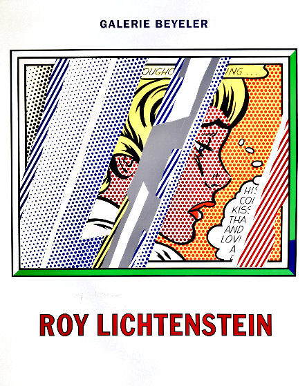 Reflections on Girl Exhibition Poster HS 1990 Limited Edition Print by Roy Lichtenstein
