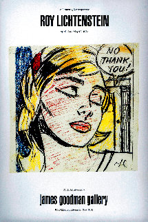 No Thank You! Exhibition Poster HS 1984 Limited Edition Print - Roy Lichtenstein