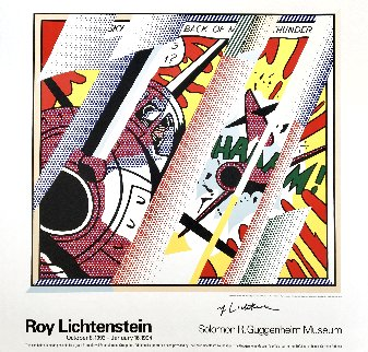 Reflections: Whaam! Hand Signed Exhibition Poster 1993 HS Limited Edition Print - Roy Lichtenstein