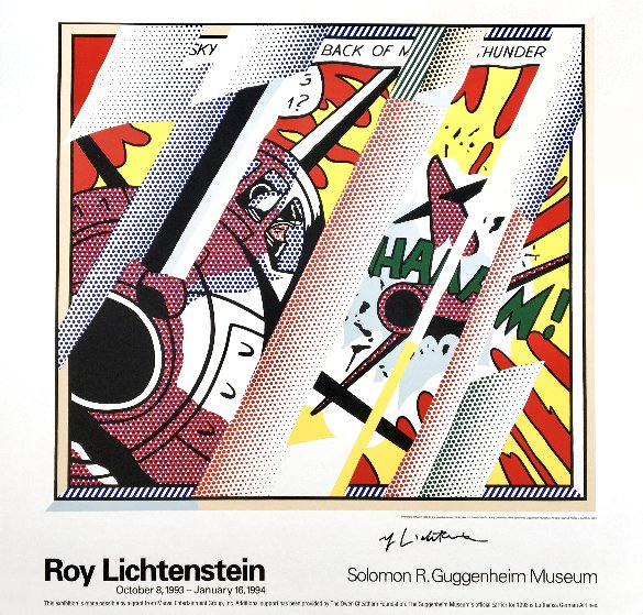 Reflections: Whaam! Hand Signed Exhibition Poster 1993 HS Other by Roy Lichtenstein