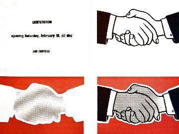 Castelli Handshake 1962 Limited Edition Print - Roy Lichtenstein