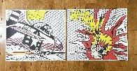 Whaam!  Diptych 1986 Limited Edition Print by Roy Lichtenstein - 1