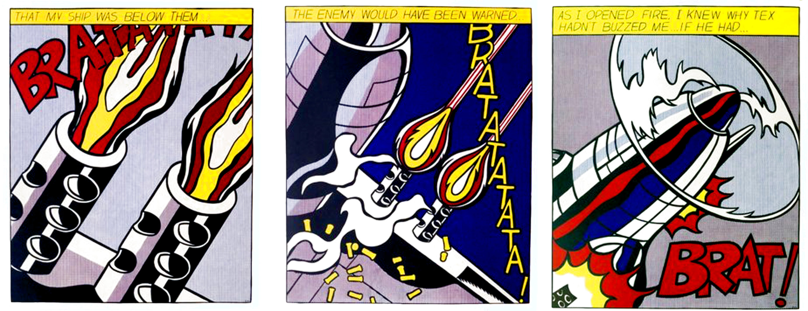 As I Opened Fire  (Tryptych)  1968 Limited Edition Print by Roy Lichtenstein