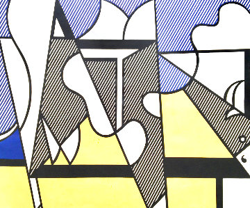 Cow Going Abstract  2 Piece Poster Set 1982 HS Limited Edition Print - Roy Lichtenstein