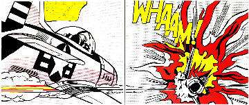 Whaam! 1986 Set of 2 Limited Edition Print - Roy Lichtenstein