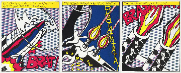 As I Opened Fire 1983 Triptych  Limited Edition Print - Roy Lichtenstein