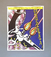 As I Opened Fire 1983 Triptych  Limited Edition Print by Roy Lichtenstein - 4