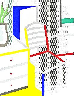 Interior With Chair 1997 Limited Edition Print - Roy Lichtenstein