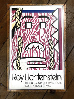Head With Braids Exhibition Poster 1980 HS Limited Edition Print by Roy Lichtenstein - 1