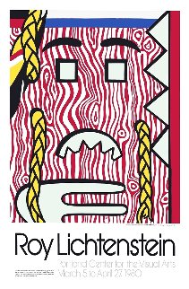 Head With Braids Exhibition Poster 1980 HS Limited Edition Print - Roy Lichtenstein