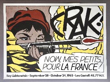 Crak! Rare Hand Signed Leo Castelli Exhibition Poster HS Limited Edition Print - Roy Lichtenstein