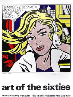 Art of the Sixties Silkscreen Poster 1979 Other - Roy Lichtenstein