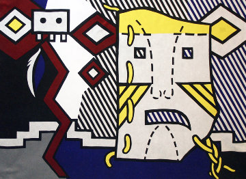 American Indian Theme V 1980 Limited Edition Print by Roy Lichtenstein