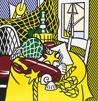 Still Life With Lobster 1974 Limited Edition Print - Roy Lichtenstein