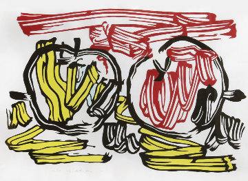 Red Apple And Yellow Apple 1983 Limited Edition Print by Roy Lichtenstein