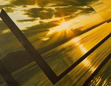 Golden Sunset 1985 36x44 Super Huge Original Painting - Frank Licsko