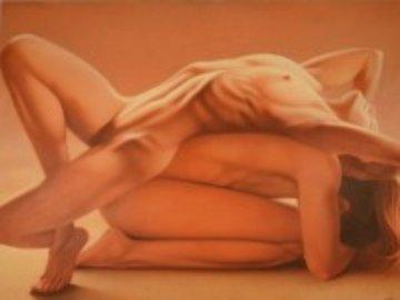 Paula 1990 30x40 Original Painting - Frank Licsko