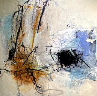 Blue Light 2012 74x73 Original Painting - Tom Lieber