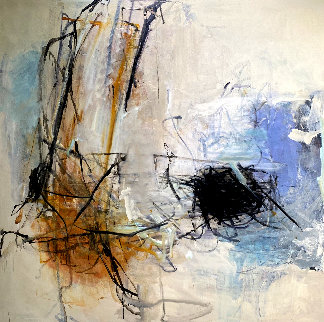 Blue Light 2012 74x73 Huge Original Painting - Tom Lieber