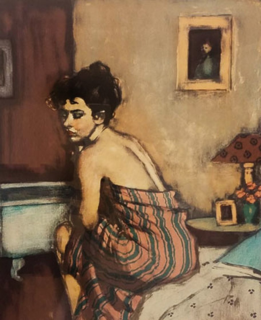 Before the Bath 2000 Limited Edition Print by Malcolm Liepke