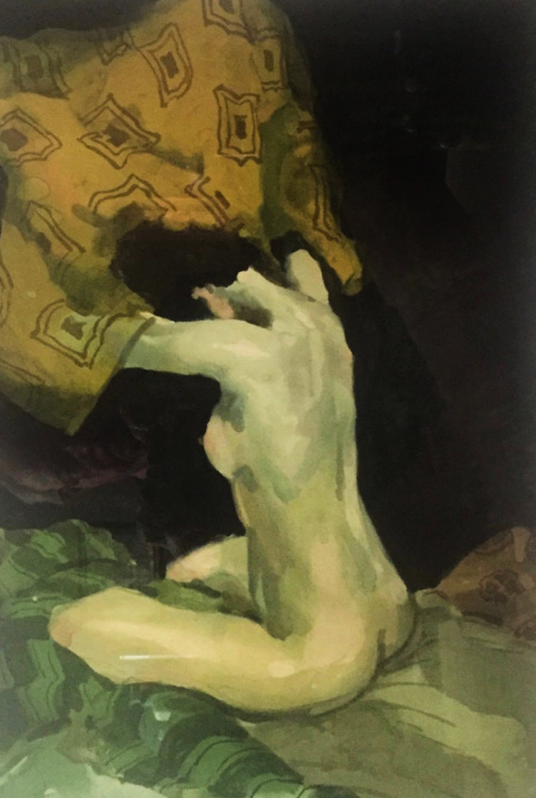 Seated Nude 1991 Limited Edition Print by Malcolm Liepke