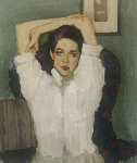 Girl in White Blouse 1996 Limited Edition Print - Malcolm Liepke