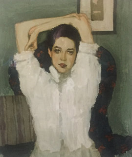 Girl in White Blouse 1996 Limited Edition Print by Malcolm Liepke
