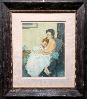 Mother And Child Limited Edition Print by Malcolm Liepke - 1