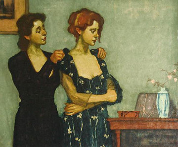 Helping With the Dress Limited Edition Print by Malcolm Liepke