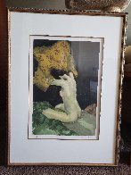 Seated Nude 1991 Limited Edition Print by Malcolm Liepke - 1