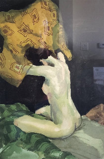 Seated Nude 1991  Limited Edition Print - Malcolm Liepke