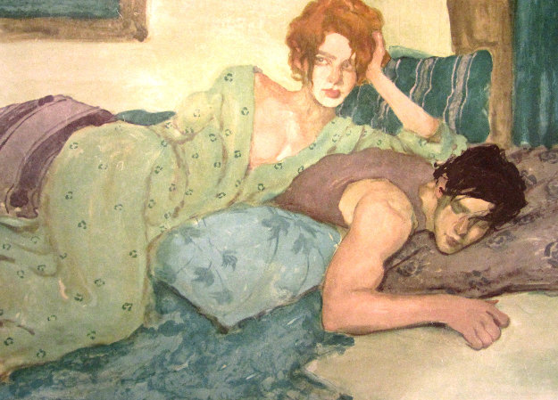 Seduction in Blues & Greens 1994 Limited Edition Print by Malcolm Liepke