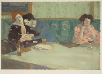 Looking Elsewhere 1993 Limited Edition Print by Malcolm Liepke