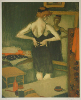 Woman in the Mirror 1989 Limited Edition Print by Malcolm Liepke