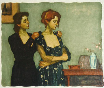 Helping with the Dress 1997 Limited Edition Print - Malcolm Liepke