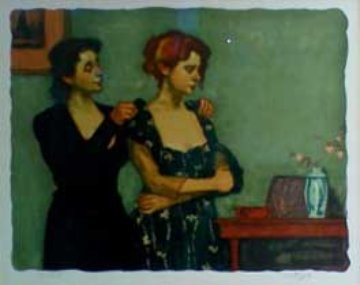 Helping with the Dress 1997 Limited Edition Print by Malcolm Liepke