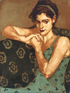 Pensive 2001 Limited Edition Print by Malcolm Liepke