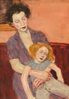 Mother and Doll Watercolor  2000 25x23 Original Painting by Malcolm Liepke - 0