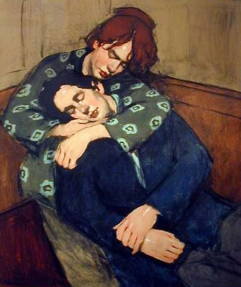 In Her Arms 2001 Limited Edition Print by Malcolm Liepke