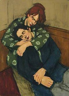 In her Arms AP 2001 Limited Edition Print - Malcolm Liepke