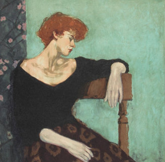 Seated Profile 1997 Limited Edition Print - Malcolm Liepke
