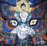 Pray 1987 50x48 Original Painting by Jiang Li - 0